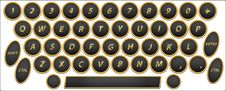 Free Qwerty Buttons Eng Royalty Free Stock Photos - 20704878