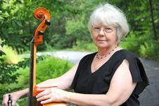 Female Cellist. Royalty Free Stock Image