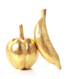 Free Golden Fruit Isolated On White Royalty Free Stock Image - 20705336