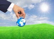 Free Hand Holding Globe Stock Image - 20705351