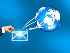 Free Hands With World Mail Delivery Stock Photos - 20705363