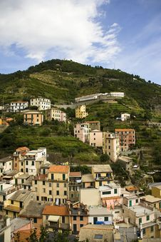 Small Town Cinque Terre Stock Photo
