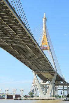 Free Bhumibol Bridge In Thailand Royalty Free Stock Image - 20705816