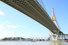 Free Bhumibol Bridge In Thailand Stock Images - 20705824