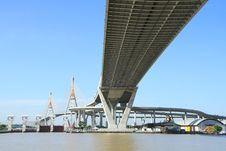 Free Bhumibol Bridge In Thailand Royalty Free Stock Photo - 20705845