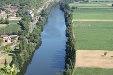 Free Lot River France Cadrieu Aerial View Stock Image - 20706161