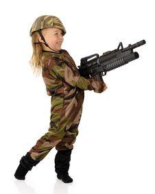 Free Delighted Little Machine-Gunner Stock Image - 20706361