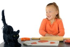 Free Black Cat Scare Royalty Free Stock Images - 20706379