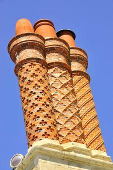 Free Three Decorative Chimneys Stock Photo - 20706430