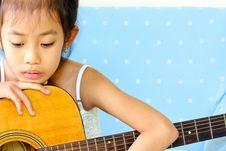 Free Young Girl And Guitar Stock Photos - 20706443