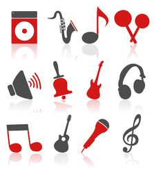 Free Musical Icons4 Royalty Free Stock Photography - 20706597