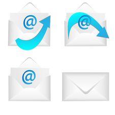 Free Set Of Envelopes Royalty Free Stock Photos - 20706878