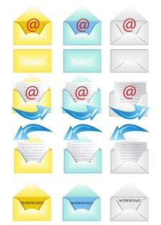 Free Set Of Envelopes Royalty Free Stock Images - 20706879
