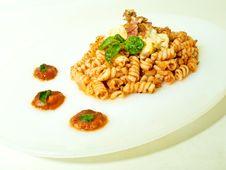 Free Fusili Pasta With Tomato Sauce Royalty Free Stock Photo - 20707035