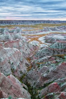 Free Badlands At Sunrise, South Dakota, USA Royalty Free Stock Photos - 20707538