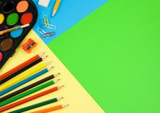 Free Back To School On Colorful Paper Stock Photo - 20708060
