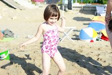 Free Beautiful Little Girl On The Beach Royalty Free Stock Photography - 20708187