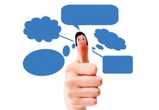 Happy Group Of Finger Smileys Stock Images