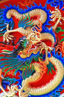Free Gold Dragon Background Royalty Free Stock Image - 20708746