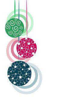 Free Three Glasses Christmas Tree Balls Royalty Free Stock Photo - 20708825