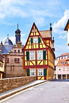 Scenic Historic Houses Royalty Free Stock Photography
