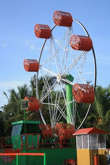 Free Roller Giant Wheel At An Indian Amusement Park Royalty Free Stock Photography - 20709387