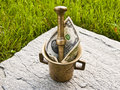 Free Mortar With Dollar Of Green Grass And Stone Royalty Free Stock Photography - 20719057