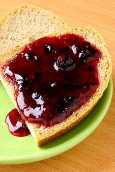 Free Jam Spread On Bread Stock Image - 20711021