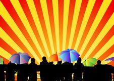 Free Abstract Rainy Sunset Stock Image - 20711711
