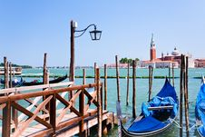 Pier On San Marco Canal, Venice, Italy Royalty Free Stock Image