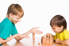 Free Two Boys Playing Royalty Free Stock Image - 20714616
