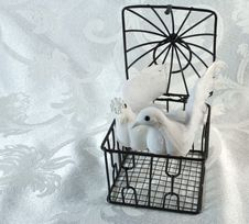 Free Doves And Open Brass Cage Stock Photos - 20714673