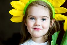 Free Portrait Of Adorable Sunny Child Girl Royalty Free Stock Photos - 20714698