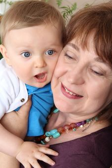 Free Grandmother And Grandson Stock Image - 20714791