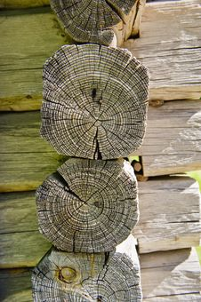 Wood House Timber Set Royalty Free Stock Photos