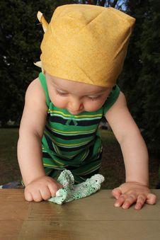 Free Baby In Garden Stock Image - 20714811