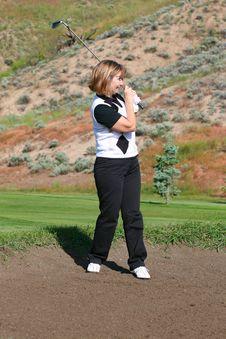 Free Female Golfer Royalty Free Stock Photo - 20714875
