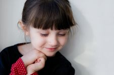 A Portrait Of Cute Smiling Child Girl Stock Photography