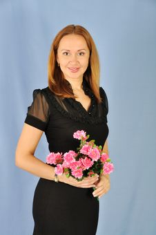 Free Woman With Flowers Stock Photos - 20715243