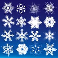 Free Decorative Snowflakes. Stock Images - 20715664