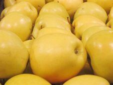 Free Basket Of Yellow Apples Stock Image - 20716001
