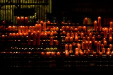 Free Red Candles Church Royalty Free Stock Image - 20716076
