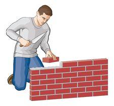 Free Bricklayer Royalty Free Stock Image - 20716126