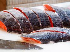 Free Sliced Salmon. Royalty Free Stock Photo - 20716375