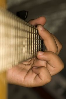 Acoustic Guitar - Chord G-dur Stock Images