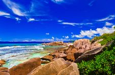 Free Tropical Beach At Seychelles Royalty Free Stock Photography - 20717857