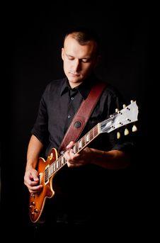 Free Man Playing Guitar Stock Photos - 20718523