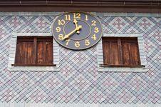 Church Clock Stock Photo