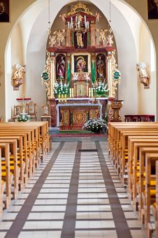 Free Church Interior Royalty Free Stock Photos - 20718748