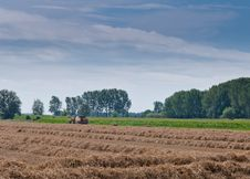 Free Hay Baling In The Netherlands Royalty Free Stock Image - 20718886
